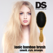 DS Ionic-Infused Bamboo Oval Brush